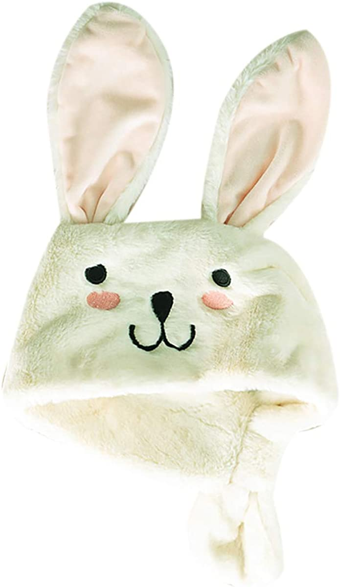 RARITYUS Kids Soft Fur Winter Scarf Cute Rabbit Warm Wrap Shawl Neck Warmer with ears Shawl for Boys Girls Baby