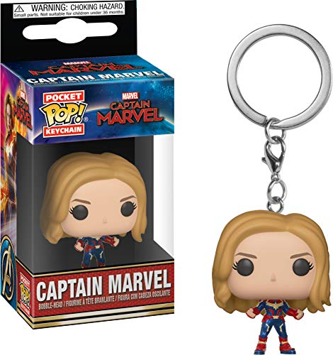 Funko- Keychain Llavero Pocket Pop Capitana Marvel, Multicolor, Talla unica (36438)