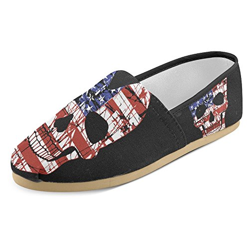 Interestprint Womens Loafers Klassiska Avslappnade Kanfassnedsteget På Mode Skor Gymnastik Mary Jane Platt Skalle 4