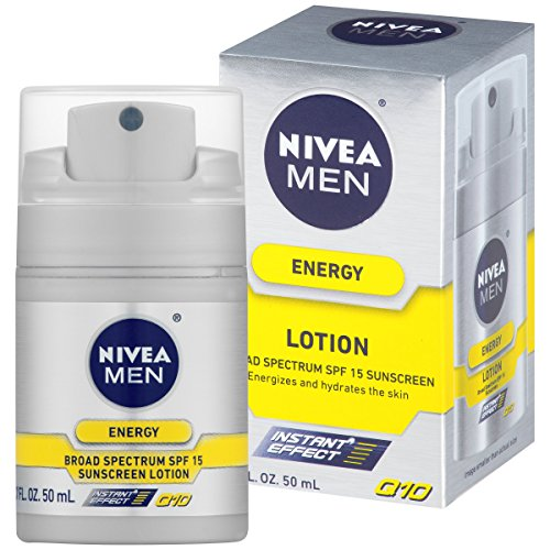 NIVEA Men énergie Lotion large spectre SPF 15 Sunscreen 1.7 once liquide