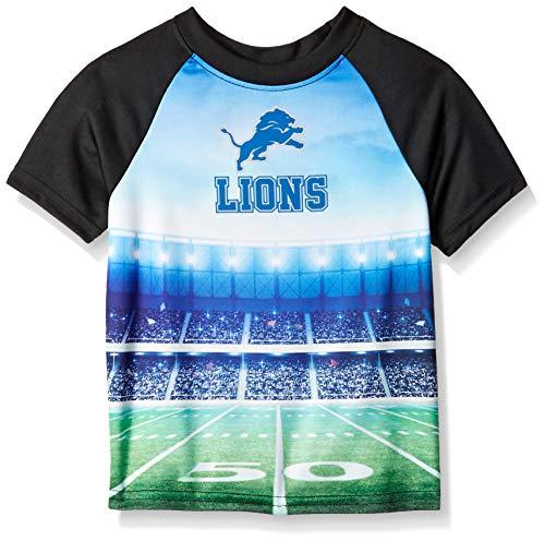 NFL Detroit Lions Unisex Short-Sleeve Tee, Black, 4T