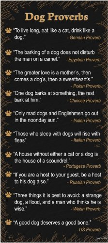 bluee Fox Dog Proverbs Wood Plaque