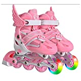 Children Skates Shoes Classic Sets Dual Purpose Roller Skates Shoes with siez S can Adustable and Breathable
