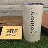 Personalized Name Tumbler For Girlfriend Gift Engraved Tumbler For Her Womans Cup Double Wall Vacuum Insulation Cursive Name