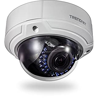TRENDnet Indoor/Outdoor 2MP 1080p Varifocal PoE IR Dome Network Camera, IP66 Rated Housing, Adjustable Lens, Digital WDR, IK10 Vandal Resistant, ONVIF, IPv6, TV-IP341PI