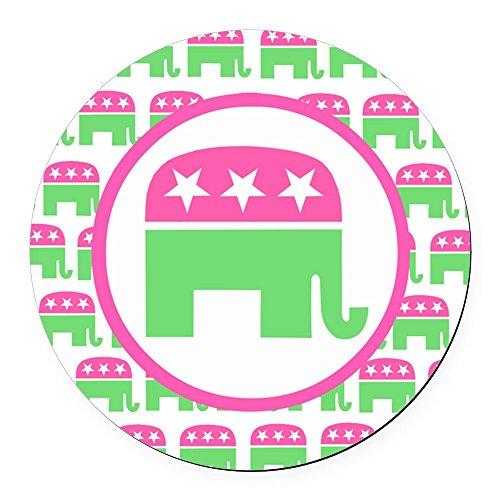 CafePress - Preppy Republican Round Car Magnet - Round Car Magnet, Magnetic Bumper Sticker
