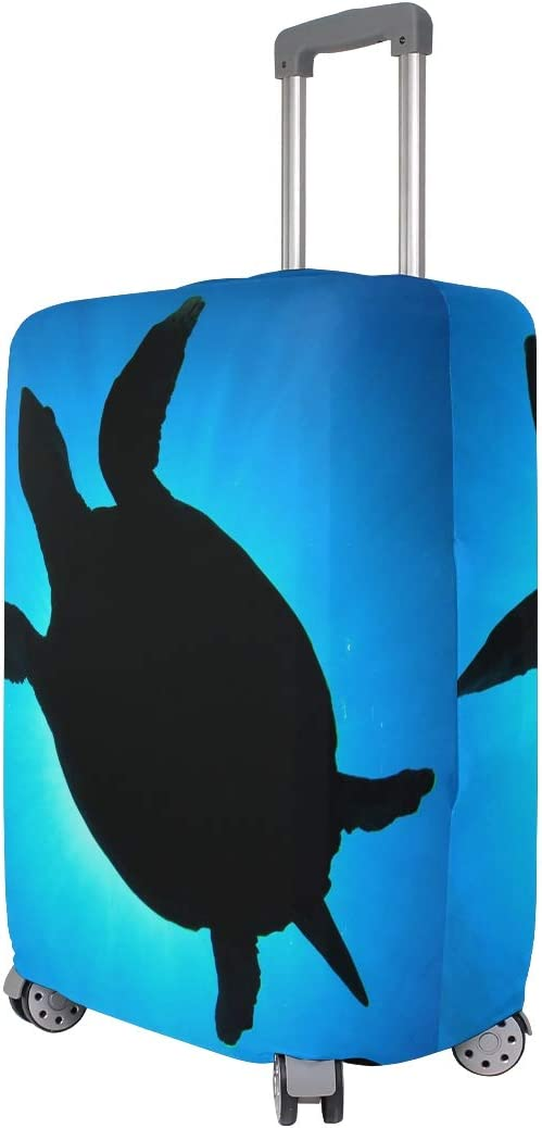 Elastic Suitcase Protector Luggage Cover Water Ocean Animal Sea Turtle Fits 26-28 Inch Travel Elastic