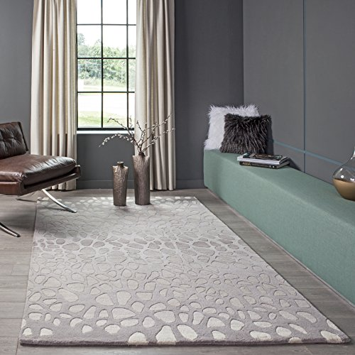 Momeni Rugs DELHIDL-33SVL80A0 Delhi Collection Area Rug, 8' x 10', Silver