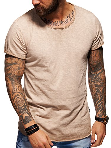 behype. Men's Basic Crewneck Casual Fashion Hipster T-Shirt Muscle Longline Tee Casual Premium Top D-1703 -