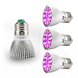Led Grow light Bulbs Full Spectrum,EnerEco 28W E27 Plant Growing Lights lamp for Indoor Plants Garden Hydroponic Greenhouse Organic - 4PCS
