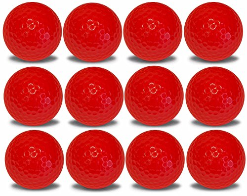 1 Dozen Red Golf Balls Upload Your Logo or Text (Red)