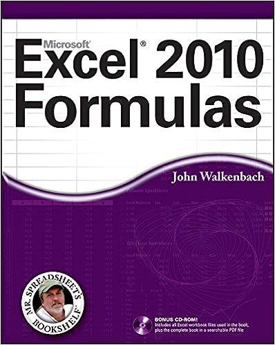 Amazon Com Excel 2010 Formulas Mr Spreadsheet S Bookshelf