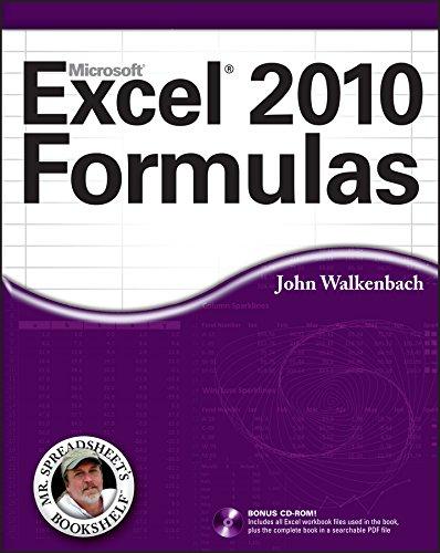 Download Excel 2010 Formulas (Mr. Spreadsheet's Bookshelf) Pdf