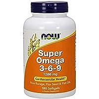 Now Foods Super Omega 3-6-9 1200 mg, 180 Softgels