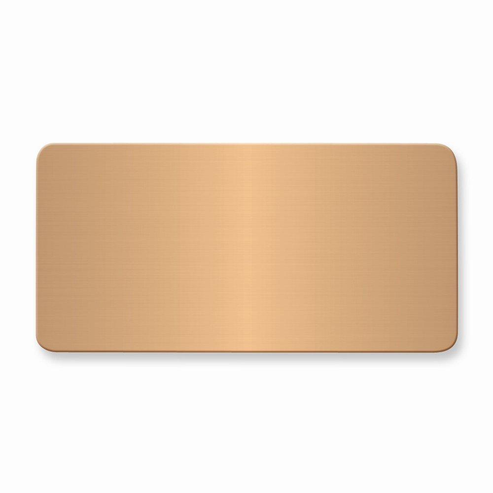 1 1/2 x 3 Copper Alum Plates-Sets of 6 by viStar (Image #1)