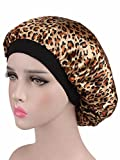 Century Star Silk Chemo Hat Print Comfortable Sleeping Cap for Cancer Leopard Brown One Size