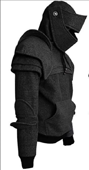 XQS Mens Long-Sleeved Hooded Pullover African Fall Winter Outwear