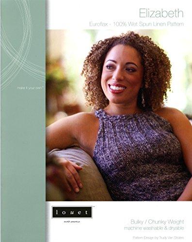Elizabeth Tank Top/Halter Hybrid - Louet Knitting Pattern to Knit for Teens & Women