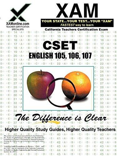 CSET English 105, 106, 107 (XAM CSET)