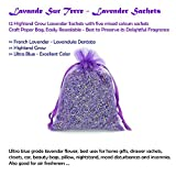 16 Purple French Dried Lavender Sachets Craft Bag - Lavender Sachets Wedding Toss, Home Fragrance Sachets Drawers Dressers
