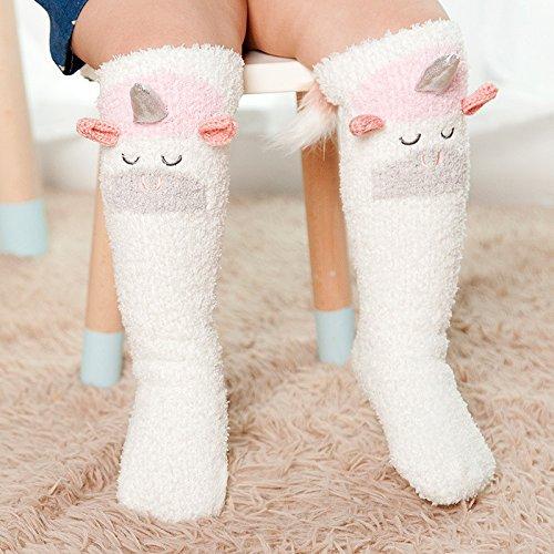Overknee ZYTAN medias y calcetines calcetines de bebé los calcetines de algodón engrosamiento,1 medias de algodón,1-5 años (sin talón) 5 pares: Amazon.es: ...