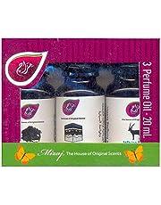 مجموعة زيوت عطرية من ميزاج - 3 قطع × 20 مل - عطر العود والمسك وعطر كعبة لمباخر الزيوت الأساسية