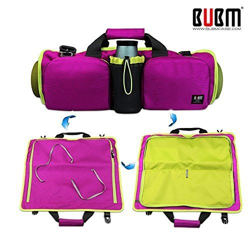 Brand-box Yoga Mat Bag Multi-Purpose Adjustable Shoulder Bag Handbag Tote Bags (Purple)