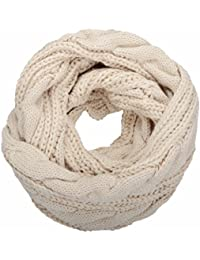 NEOSAN Womens Thick Ribbed Knit Winter Infinity Circle...