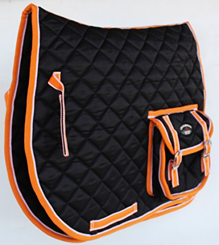 St. Charles Horse Quilted English Saddle PAD Trail Trail All Purpose Pockets 7298
