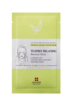 Leaders Insolution Tea Tree Relaxing Renewal Mask Pack of 10