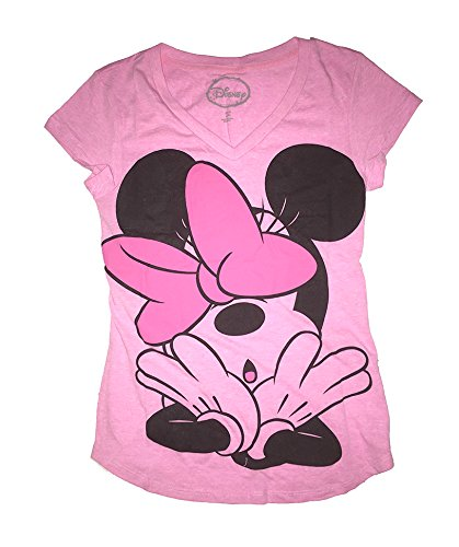 Disney Classic Minnie Oopsie Womens Pajama T Shirt Top - Pink Pink