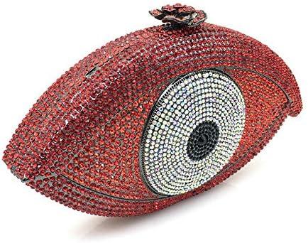 バッグ - 新さんクラッチイブニングバッグダイヤモンドパーティードレスイブニングバッグメッセンジャーバッグ よくできた (Color : Red)