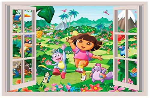 Dora the Explorer 3D WALL STICKER BEDROOM decor ART KIDS DECAL Window View 18