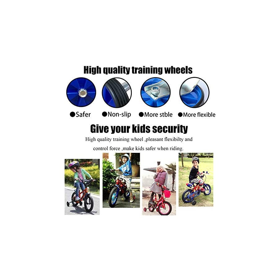 Hifans Training Wheels for 12 14 16 18 20Inch Bike Bicycle Training Wheels Bike Accessory Support Wheels Kids Bike Stabilizer