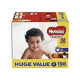 HUGGIES Snug & Dry Diapers, Size 3, 198 Count, HUGE PACK (Packaging May Vary)