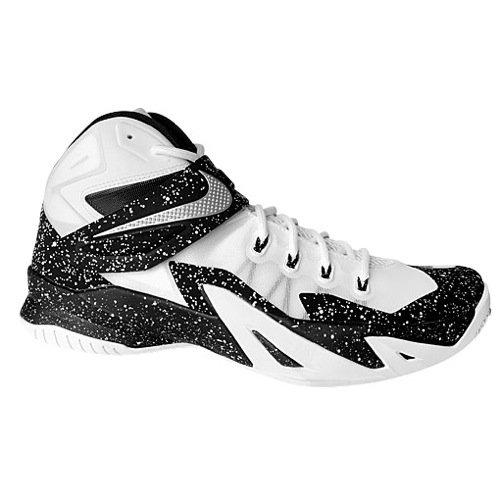 Nike Zoom Lebron Soldier VIII 8 - Mens (12, White/White/Black)