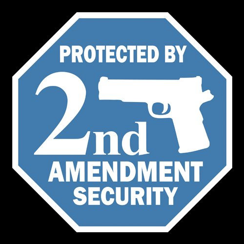 Protected By 2nd Amendment Security (Sign) - PVC02
