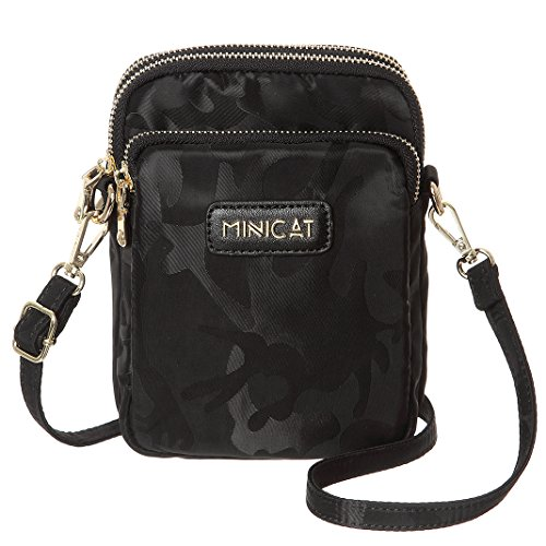 bd3164d36c30 MINICAT Nylon Small Crossbody Bags RFID Blocking Cell Phone Purse For Women  (Black-RFID
