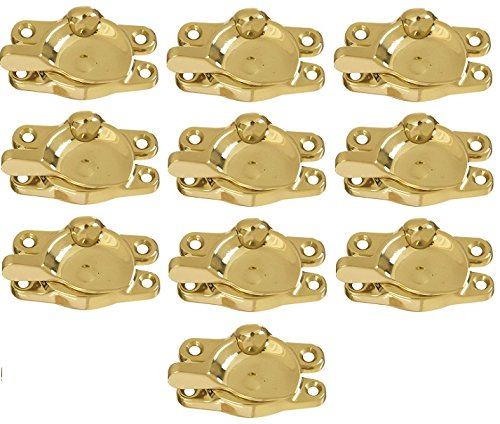 National N198-150 Polished Brass Window Sash Lock - Quantity 10 by National