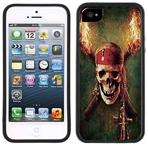 Pirate Skull Handmade iPhone 5 5S Black Bumper Plastic Case