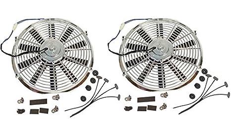 Super Dual Electric 12' Straight Blade Reversible Cooling Fans 1577 CFM 12v DEMOTOR