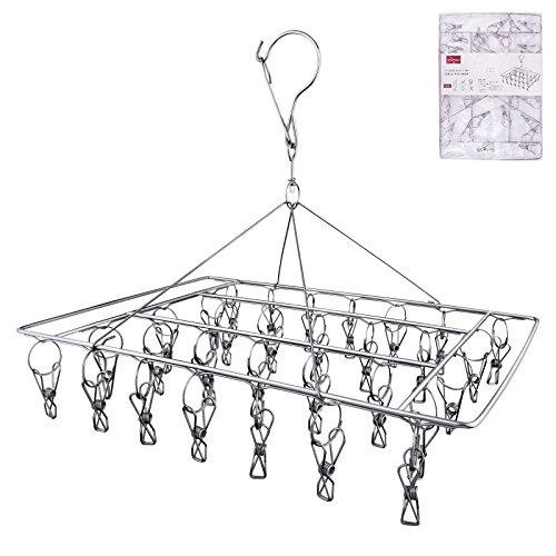 - Rosefray 30 Clips Metal Clothespins, Stainless Steel Clothes Drying Rack, Hats Rack, Portable Metal Hanger, Great for Quick Hand Wash of Delicates