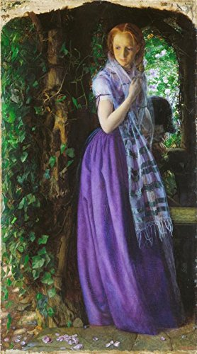 'Arthur Hughes - April Love,1855-1856' Oil Painting, 18x32 Inch / 46x82 Cm ,printed On High Quality Polyster Canvas ,this Replica Art DecorativeCanvas Prints Is Perfectly Suitalbe For Game Room Artwork (Pale Pink Pirate Teen Costumes)