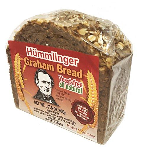 Hummlinger Yeast Free Graham Bread, GMO FREE 17.6oz (6 packs) -