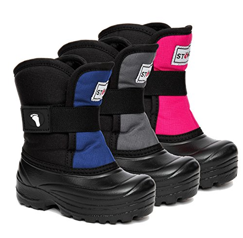 Stonz Scout Winter Boots for Cold Weather, Snow, Ice and Winter Sports - Insulated, Super Light & Warm - Pink/Black, 7T by Stonz (Image #1)