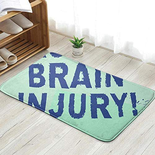 Cool pillow Text Sign Showing Traumatic Brain Injury Accident Fun Welcome Doormat Personalized Indoor Floor Mats Living Room Bedroom Bathroom Door Mat 23.6 X 15.8 Inch