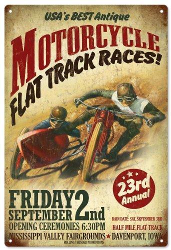 k Races Advertisement Garage Reproduction Art ()