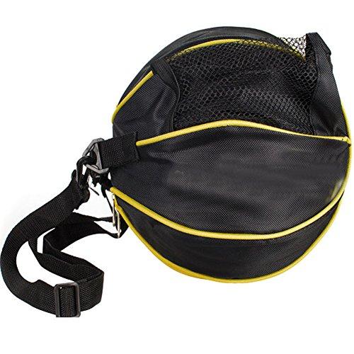 8d78d67de19 TINTON LIFE Waterproof Basketball Bag with Adjustable Shoulder Strap  Portable Football Soccer Volleyball Carrier Holder (Black)