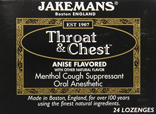 Jakemans Anise Throat & Chest Lozenge Box, 24 Counts