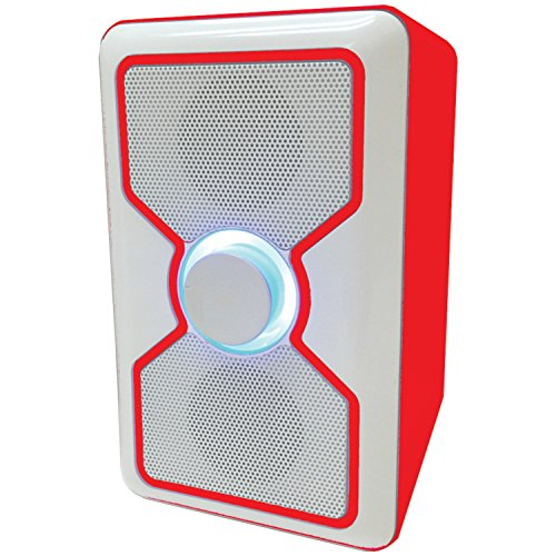 Curtis Sylvania SP015-Red Bluetooth Speaker with Built-In...